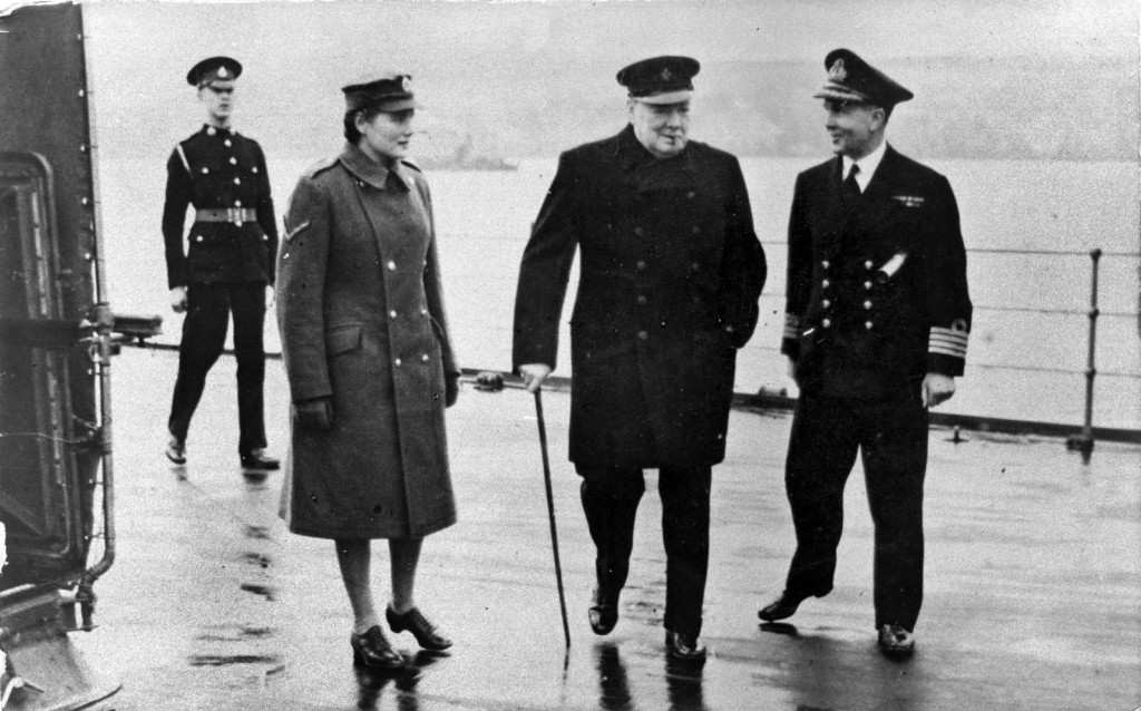 Prime Minister Winston Churchill visiting Scapa Flow during the Second World War - Orkney Library Archive ref. L208-2
