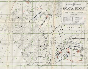 Wartime Defences Map of Hoy 1943