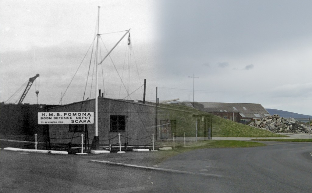 WWII Hoy Then & Now - Boom Defence Office, Lyness