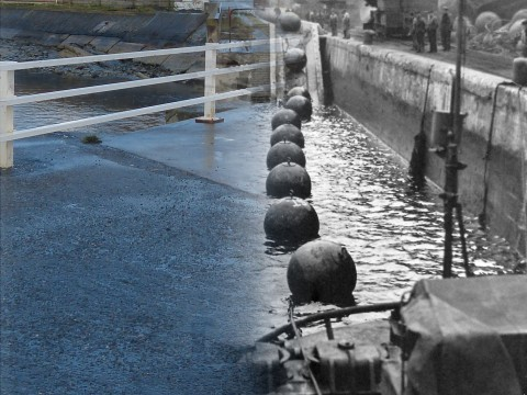 WWII Hoy Then & Now - Boom Slipway, Lyness