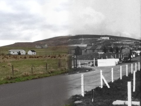 WWII Hoy Then & Now - French Road, Lyness