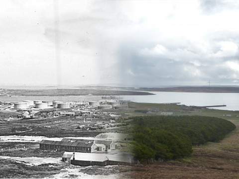WWII Hoy Then & Now - Lyness from Wee Fea