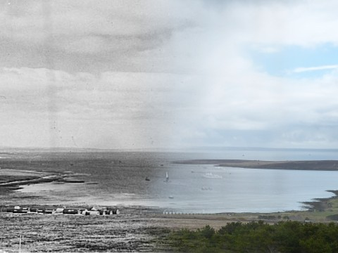 WWII Hoy Then & Now - Mill Bay from Wee Fea