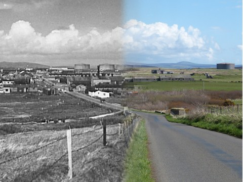 WWII Hoy Then & Now - Ore Brae, Lyness