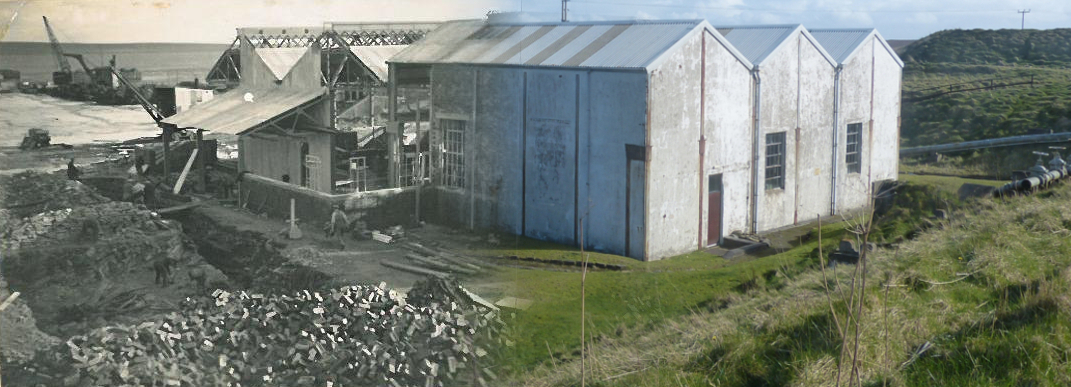 WWII Hoy Then & Now - Pumphouse No1, Lyness