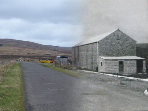 WWII Hoy Then & Now - Squash Courts, Lyness
