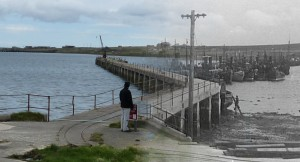 WWII Hoy Then & Now - West Pier, Lyness